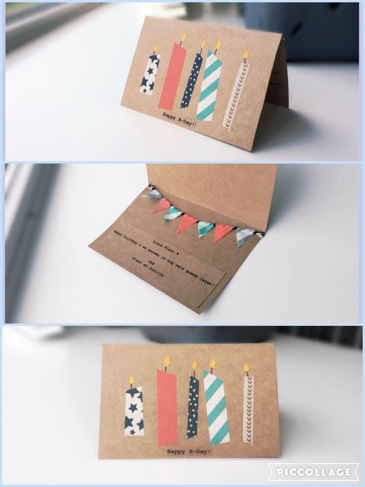 Diy Geburtstagskarten  DIY Geburtstagskarten mit Washitape cartao
