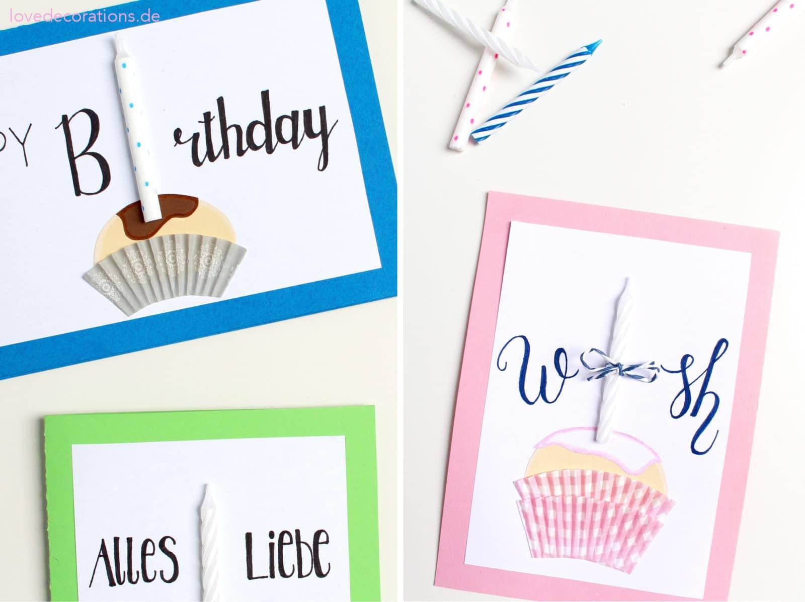 Diy Geburtstagskarten  DIY Muffin Geburtstagskarte HANDMADE Kultur