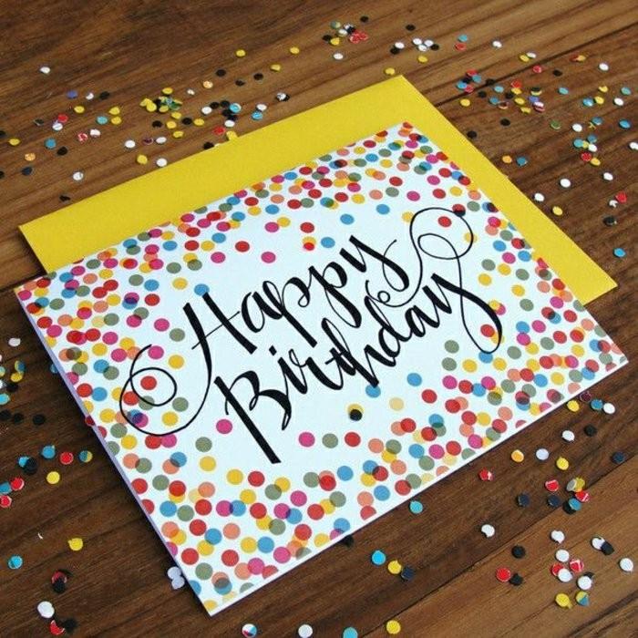 Diy Geburtstagskarten  Geburtstagskarten selber gestalten Ideen in 80 Bildern