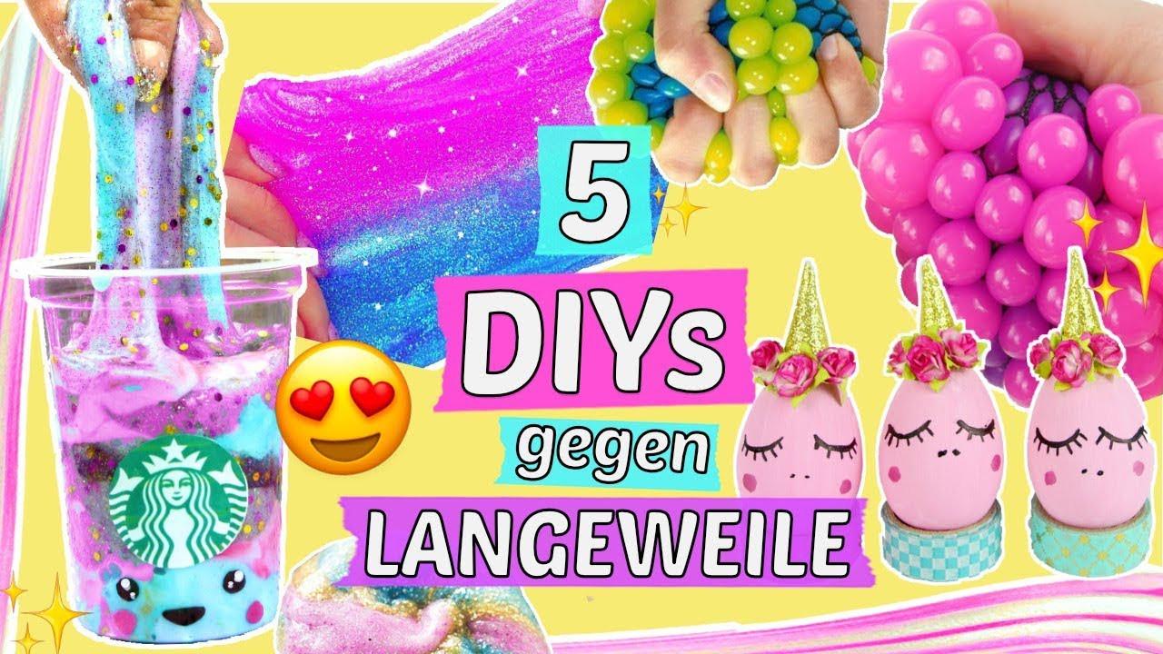 Diy Gegen Langeweile  5 coole DIYS gegen LANGEWEILE 😍EINHORN SLIME 🦄 SQUISHIES
