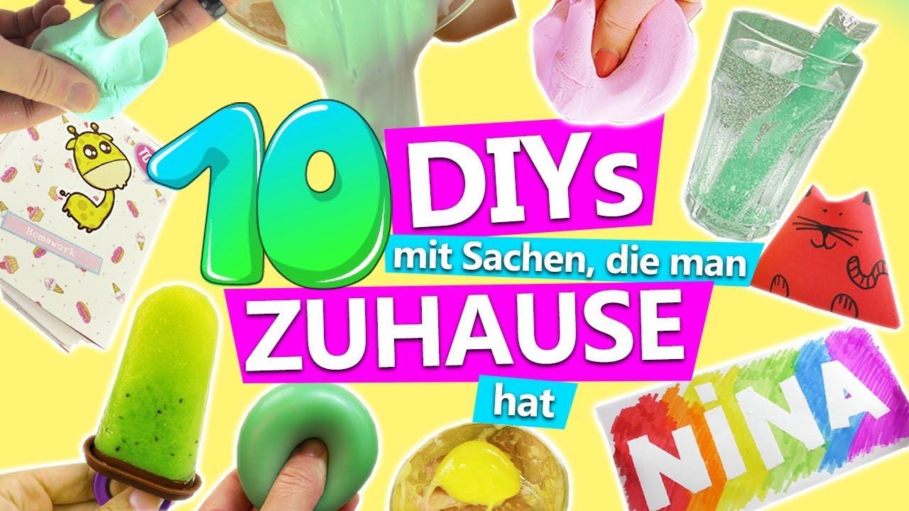 Diy Gegen Langeweile  10 DIY IDEEN mit SACHEN man ZUHAUSE hat