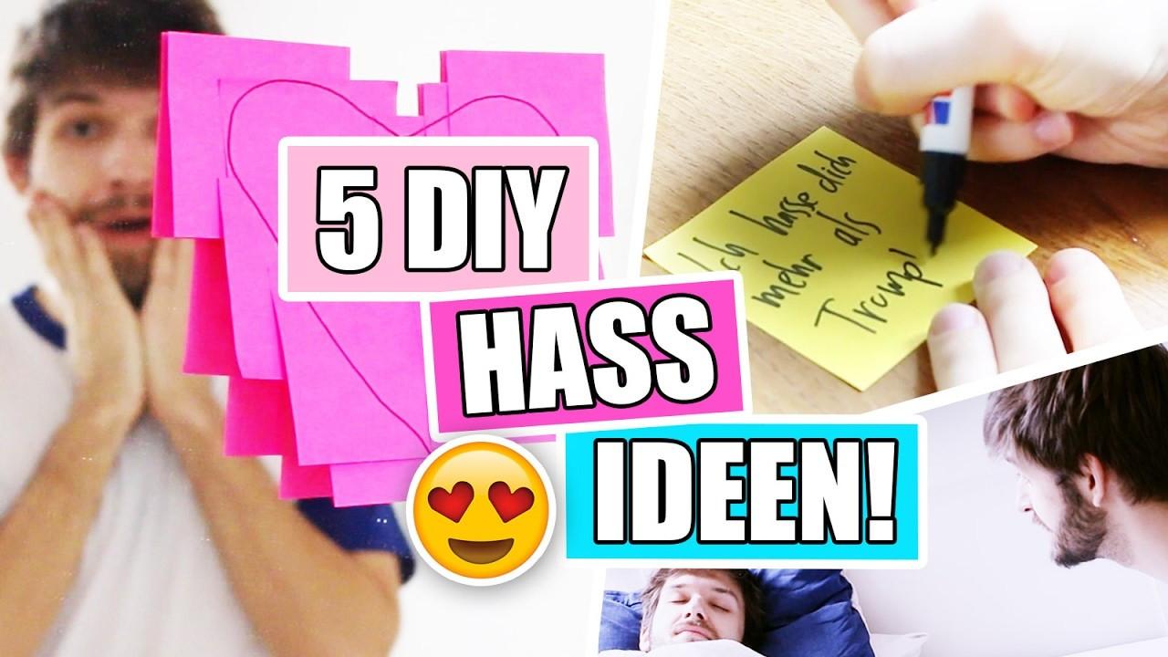 Diy Gegen Langeweile  5 DIY HASS IDEEN gegen Langeweile Wie man jemandem zeigt