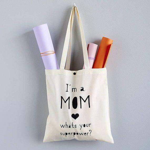 """Diy Geschenke Für Mama  Tote bag """"Supermum"""" Muttertags Ideen mit Etsy"""