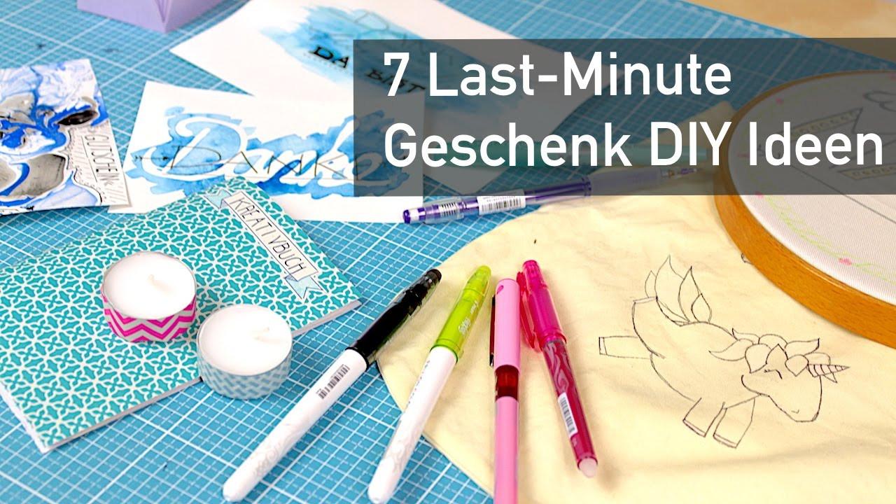 Diy Geschenke Last Minute  7 Last Minute DIY Geschenk Ideen