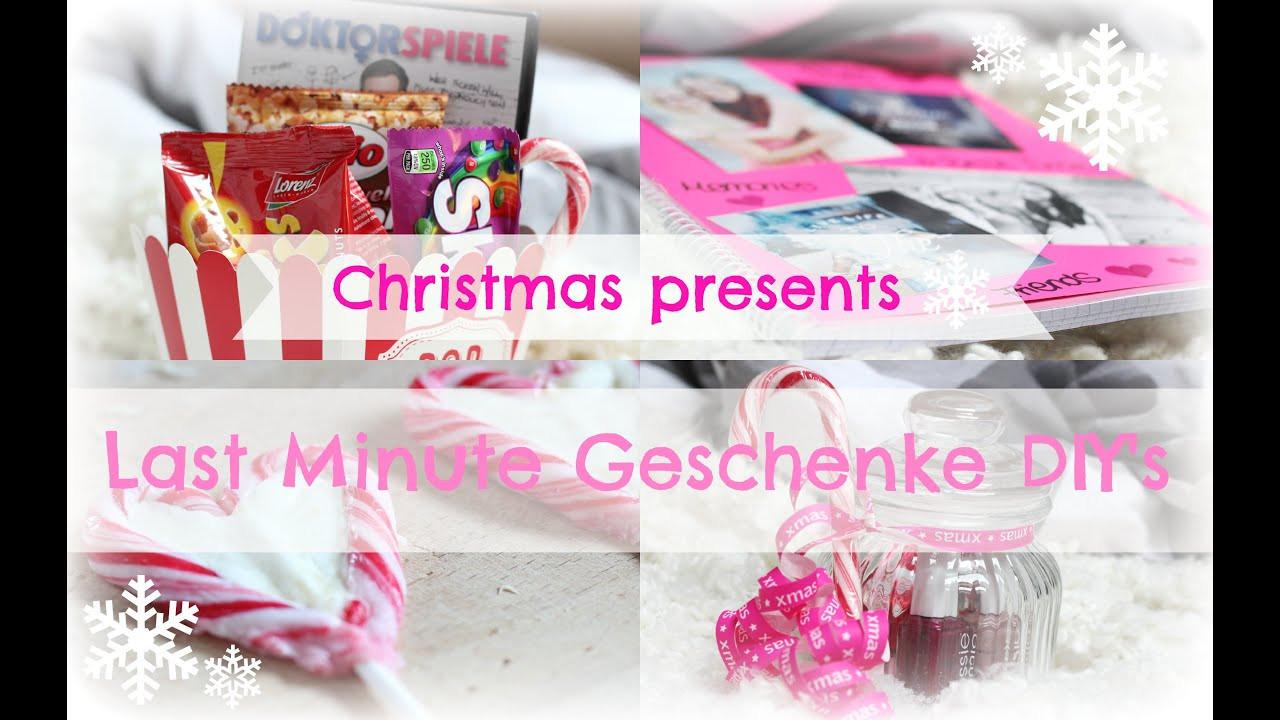 Diy Geschenke Last Minute  Last Minute Christmas DIY Geschenke