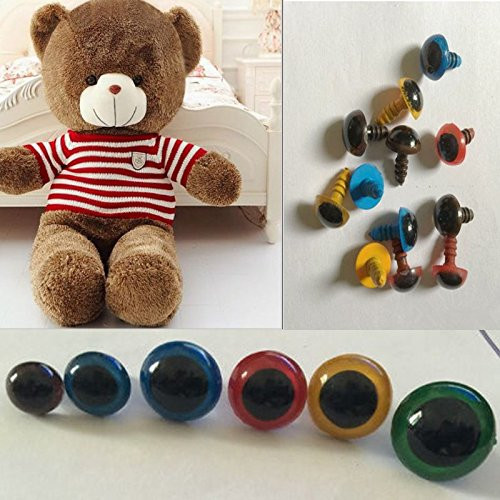 Diy Handwerk  AUAUDATE 100pcs Kunststoff Sicherheit Augen für Teddybär