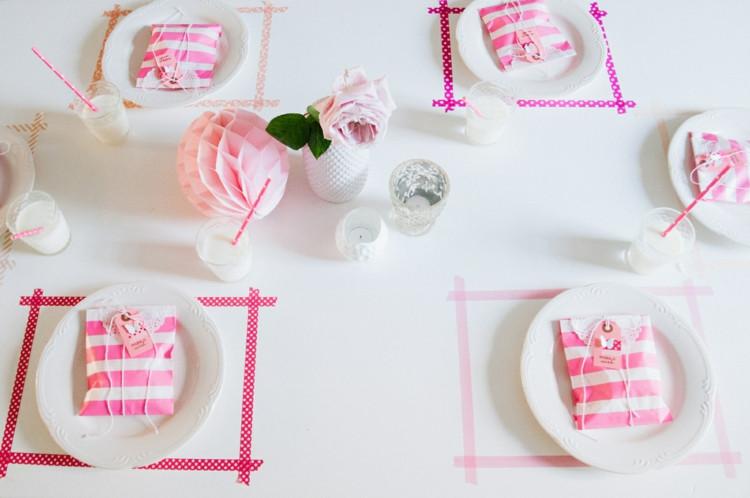 Diy Hochzeitsdeko  Witzige DIY Hochzeitsdeko Tischdeko mit Washi Tape