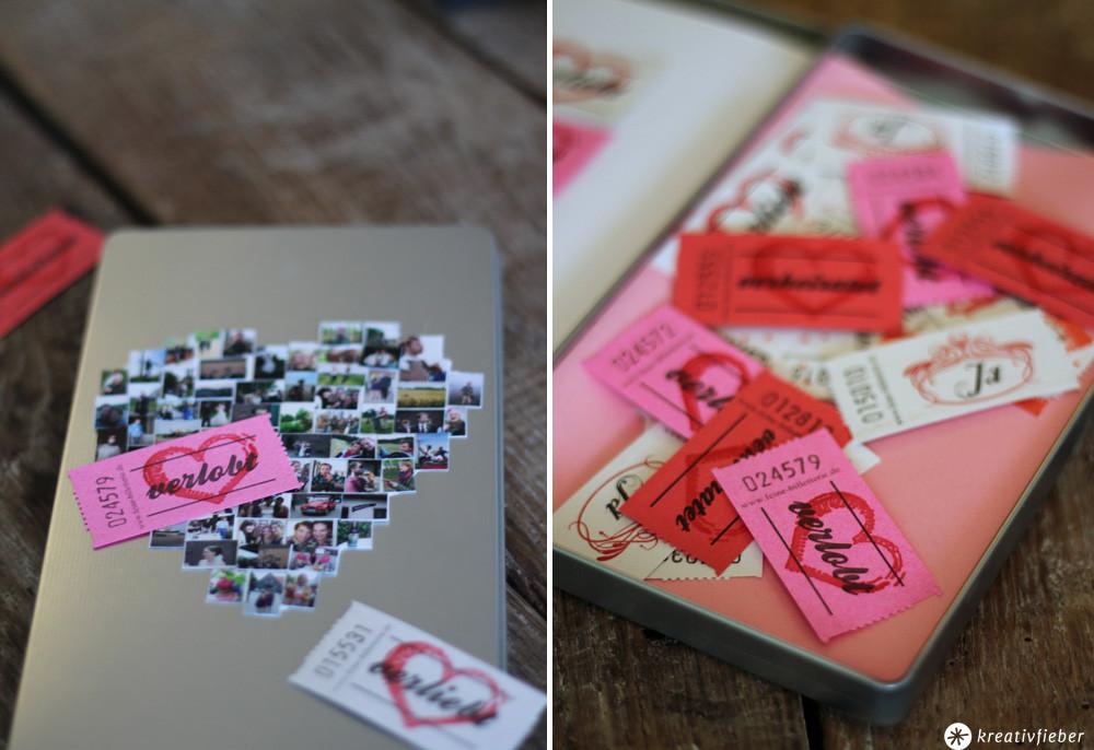 Diy Hochzeitsgeschenke  DIY Geschenkschachel mit Fotos Hochzeitsgeschenke