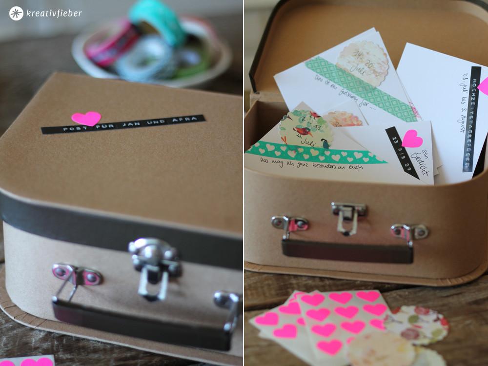 Diy Hochzeitsgeschenke  DIY Postkarten Hochzeitsgeschenk originelle Geschenkidee