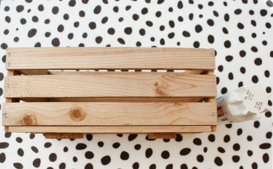 Diy Holzkiste  DIY Deko Holzkiste selber machen einfache Tischdeko