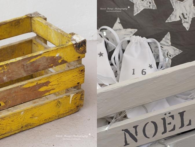Diy Holzkiste  DIY Adventskalender Säckchen in der Holzkiste Nicest Things