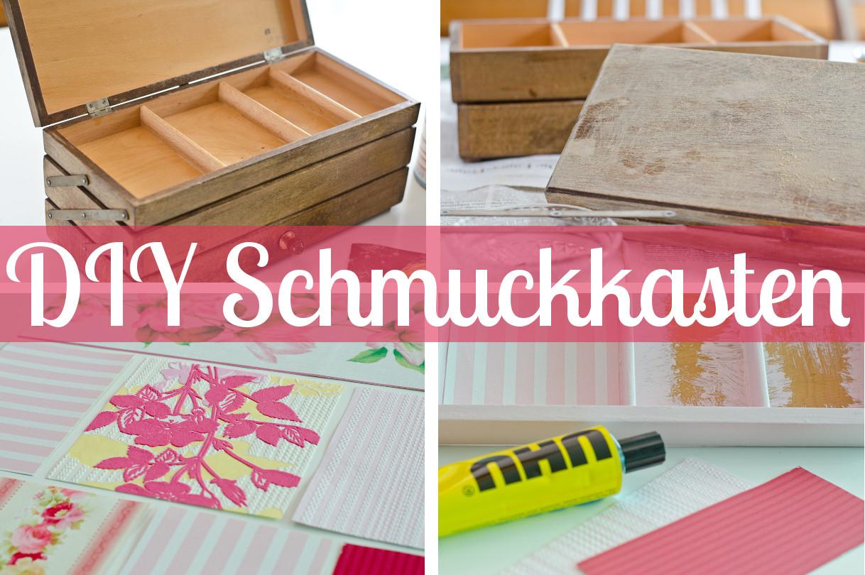Diy Holzkiste  DIY Schmuckkasten oder Beautycase aus alter Holzkiste
