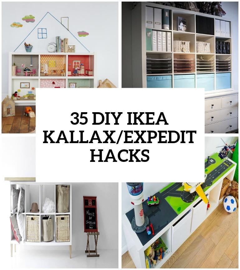 Diy Ikea Hacks  35 DIY IKEA Kallax Shelves Hacks You Could Try Shelterness