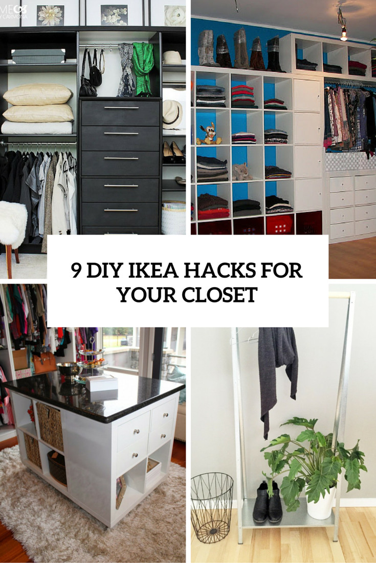 Diy Ikea Hacks  9 Cool And Easy DIY IKEA Hacks For Your Closet Shelterness