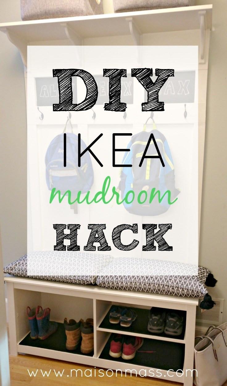Diy Ikea Hacks  DIY IKEA Mudroom Hack • Maison Mass