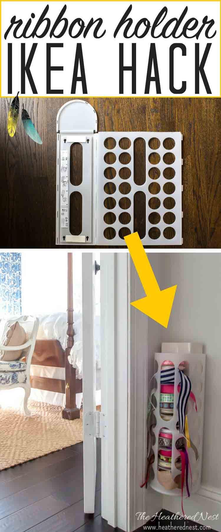 Diy Ikea Hacks  DIY ribbon holder Ikea hack Hometalk DIY