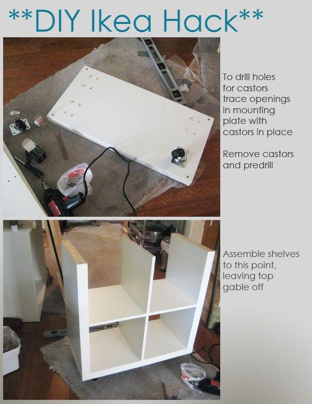 Diy Ikea Hacks  DIY Ikea Hack Kitchen Island Tutorial Construction 1