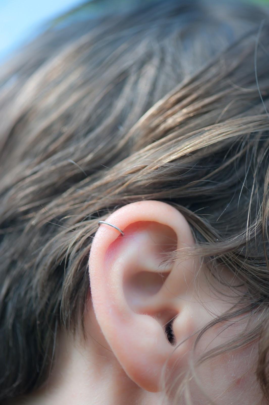 Diy In Ear  Paper Raindrops Silver ear cuff DIY
