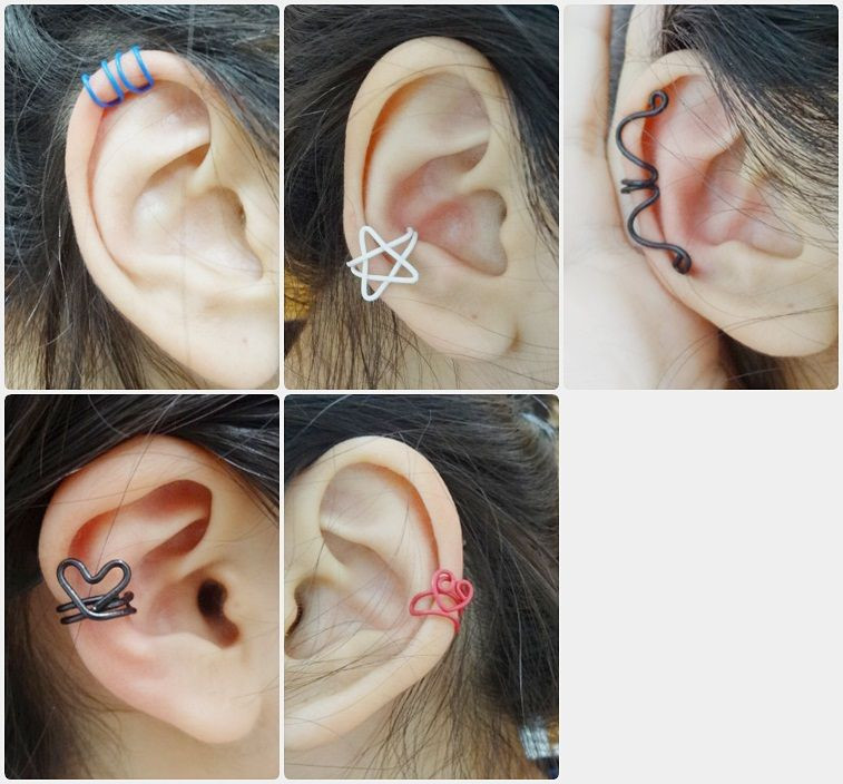 Diy In Ear  ear cuff diy star heart I made some of these once Sweet