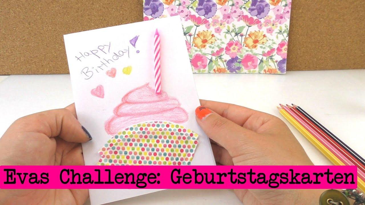 Diy Inspiration Basteln  DIY Inspiration Challenge 18 Geburtstagskarten
