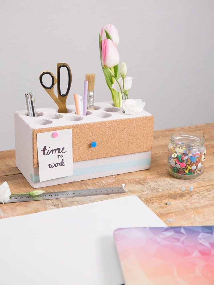 Diy Inspiration Basteln  DIY Anleitung Stiftehalter mit Pinnwand selber basteln