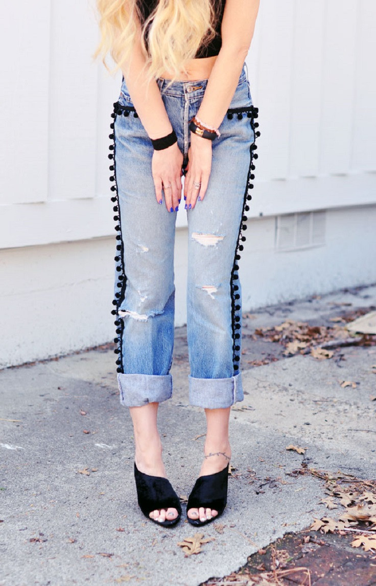 Diy Jeans  TOP 10 DIY Tricks for Your Boring Old Jeans