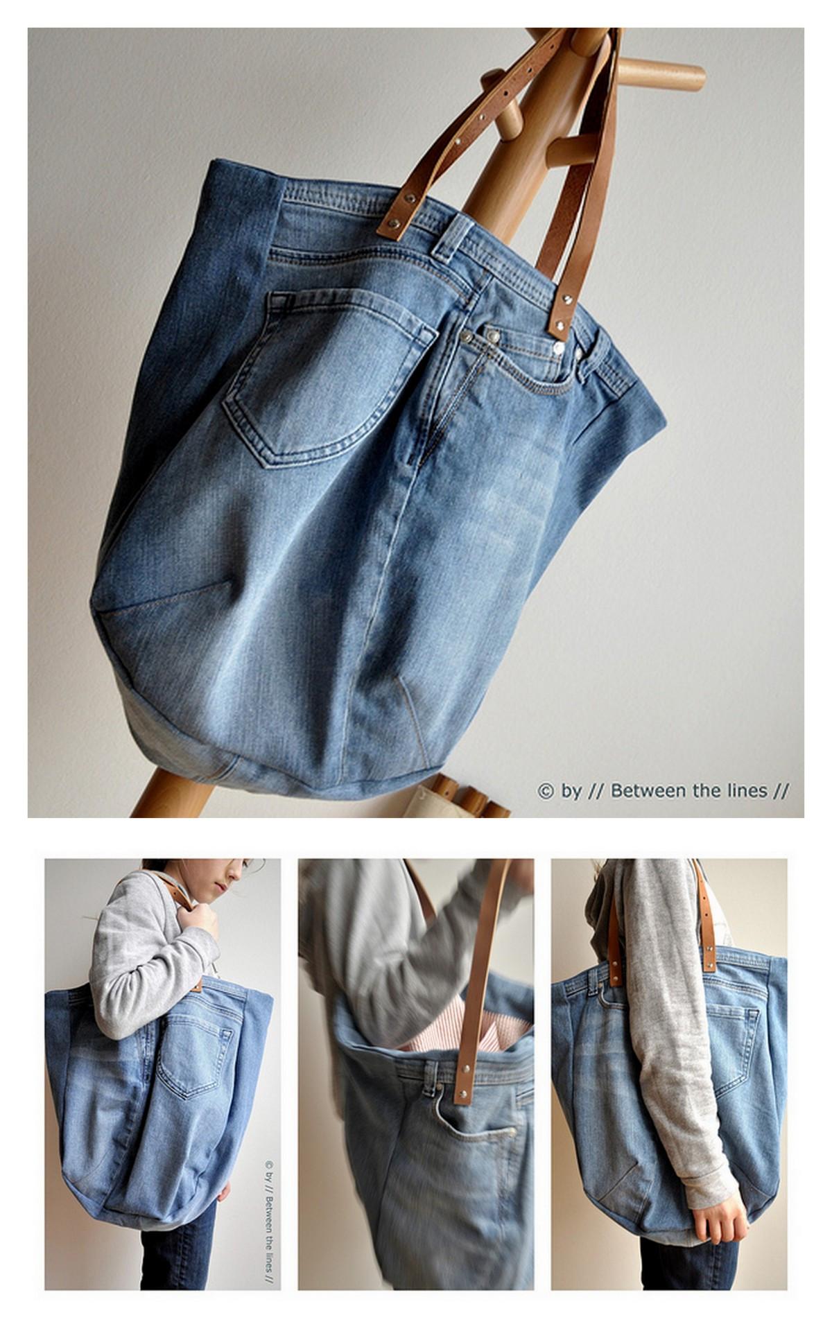 Diy Jeans  True Blue Me & You DIYs for Creatives • DIY Jean Bag
