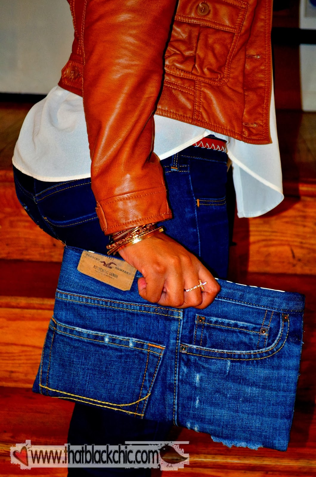 Diy Jeans  DIY Denim Clutch Your jeans your style