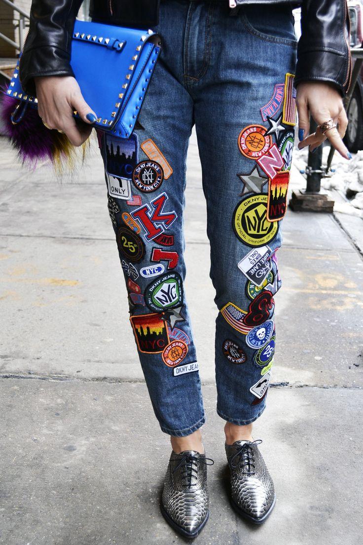 Diy Jeans  Velho novo Jeans dando uma nova cara ao jeans antigo e