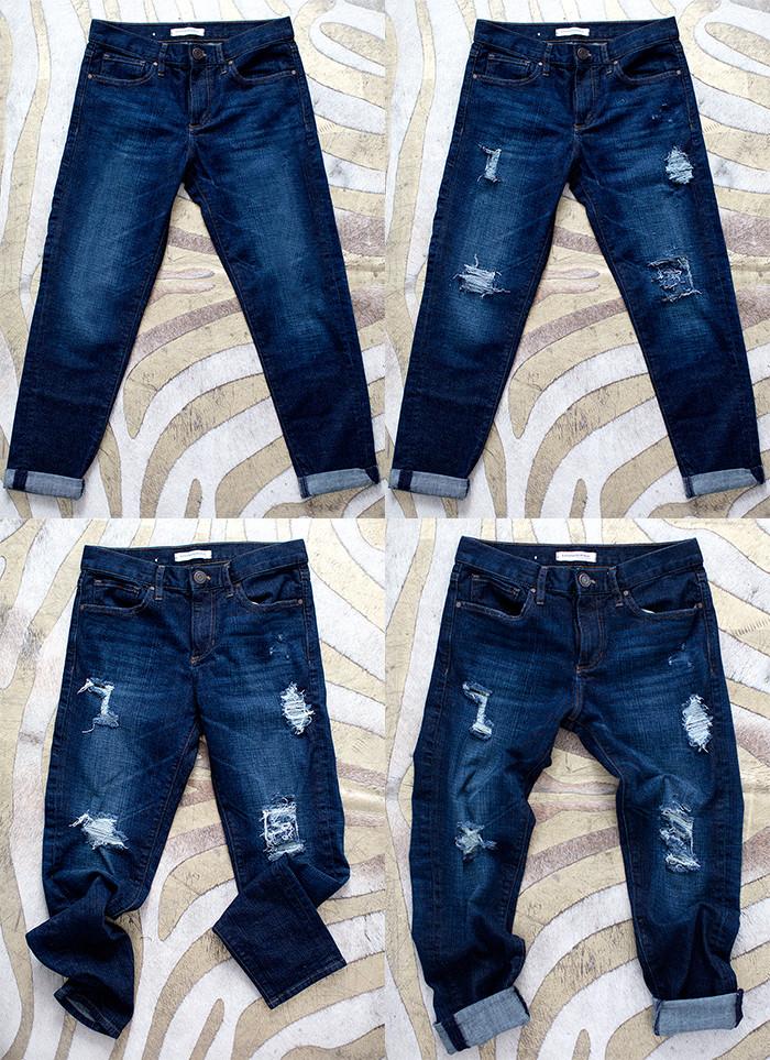 Diy Jeans  diy distressed jeans