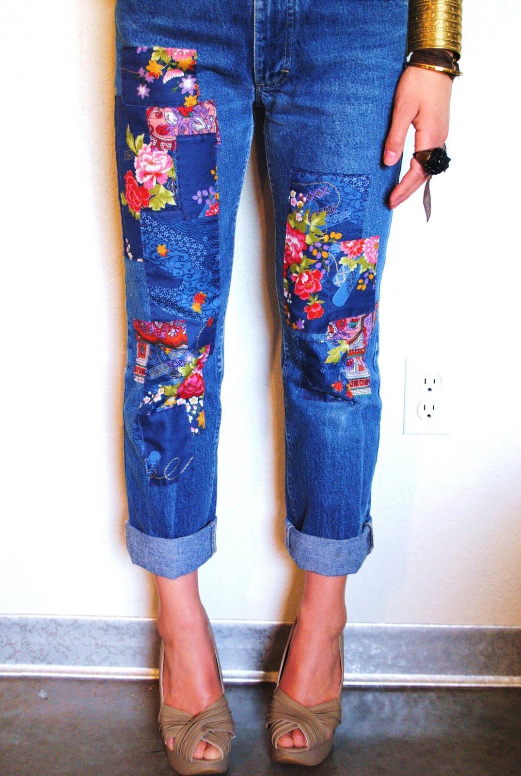Diy Jeans  DIY Patchwork Jeans