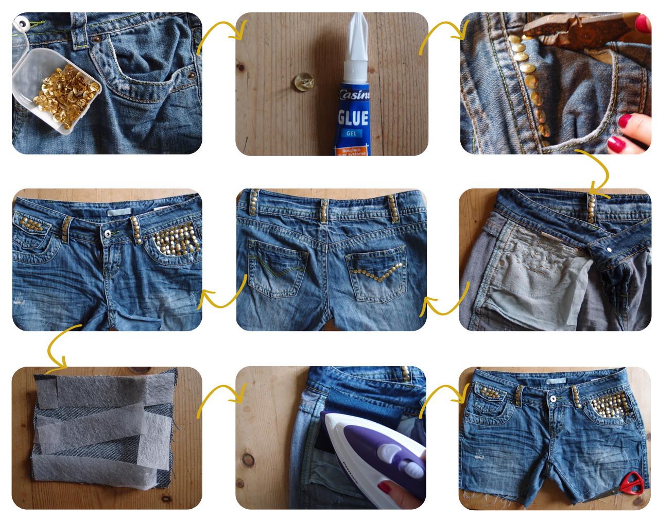 Diy Jeans  DIY Studded Denim Shorts
