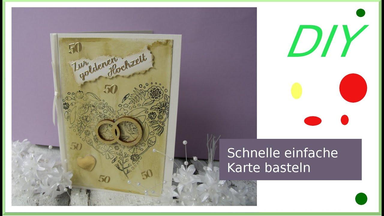 Diy Karte  Karte zur goldenen Hochzeit selber machen DIY cardmaking
