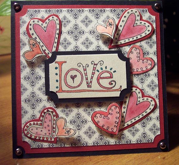 Diy Karte  Valentinstag Karte Bastelideen für DIY Karte fresHouse