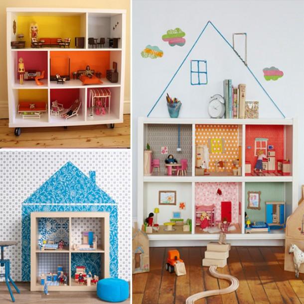 Diy Kinderzimmer Deko  Puppenhaus selber bauen und Spielecke im Kinderzimmer
