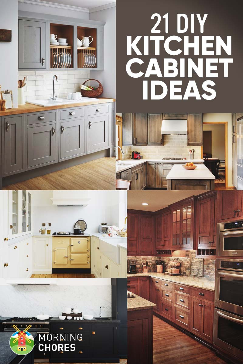 Diy Kitchens  21 DIY Kitchen Cabinets Ideas & Plans That Are Easy