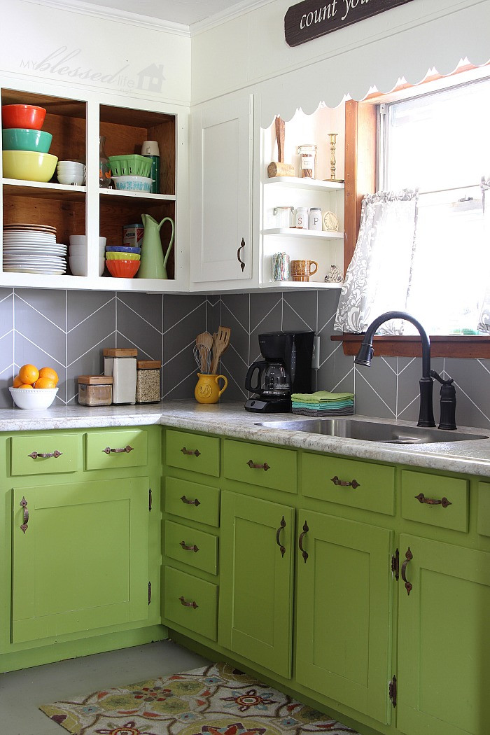 Diy Kitchens  DIY Kitchen Backsplash Ideas