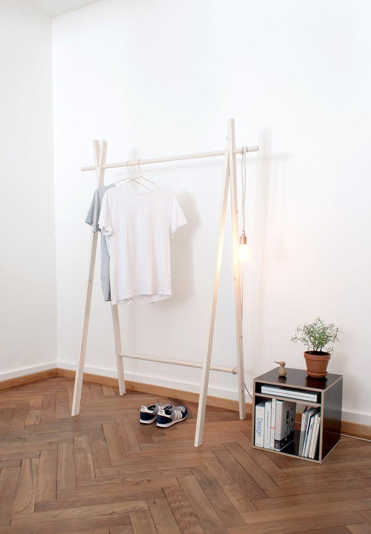 Diy Kleiderstange  Die besten 25 Diy kleiderstange Ideen auf Pinterest