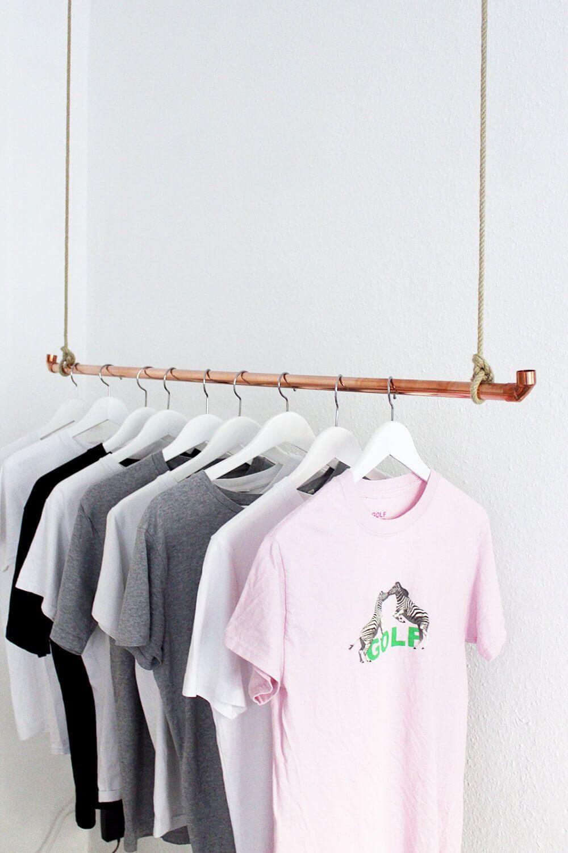 Diy Kleiderstange  DIY Kleiderstange aus Kupferrohr selber bauen
