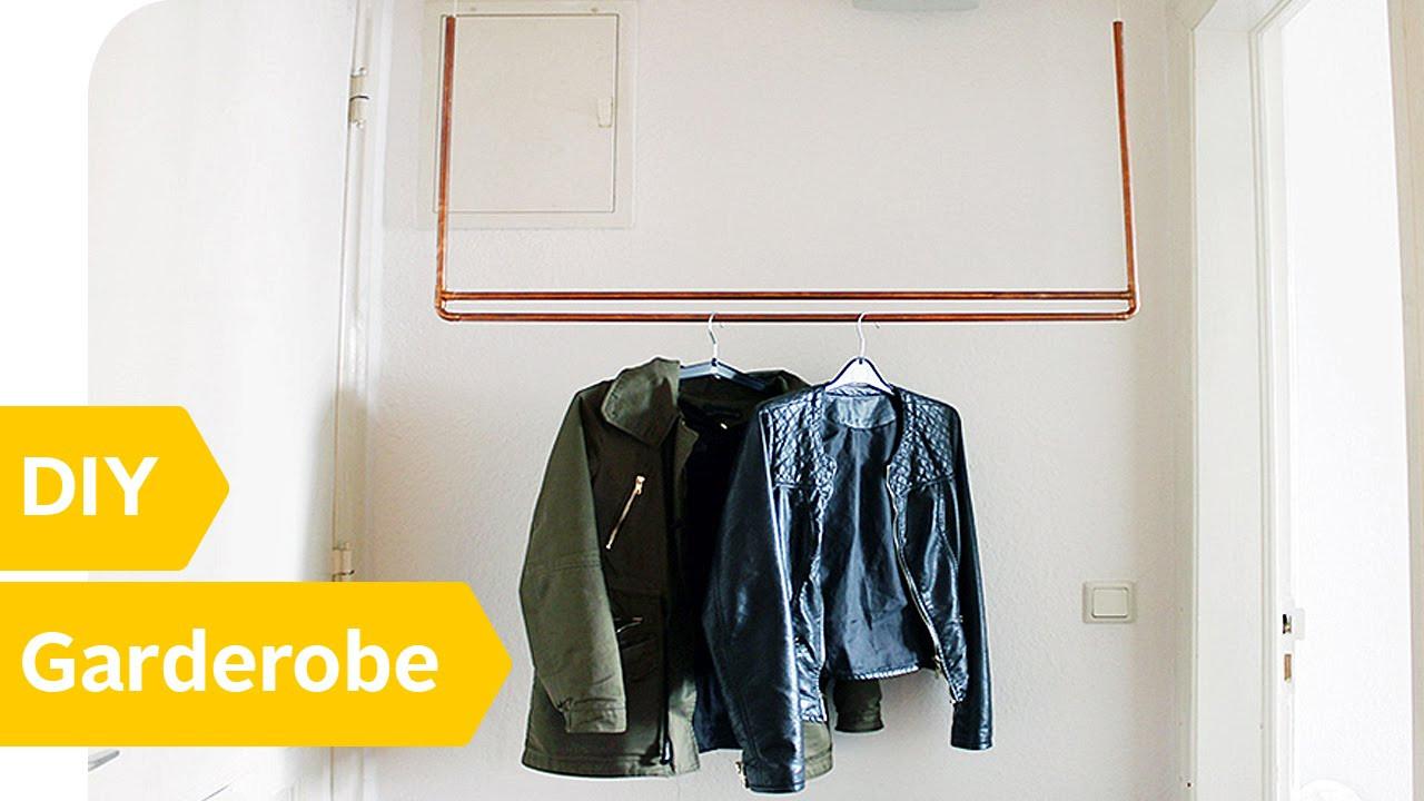 Diy Kleiderstange  DIY Kleiderstange – schwebende Kleiderstange aus Kupfer