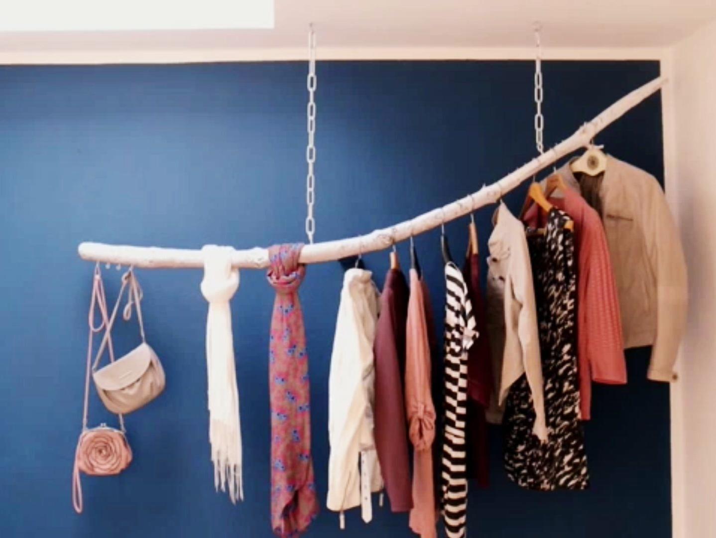 Diy Kleiderstange  【 】 Kleiderstange aus einem Ast selber bauen