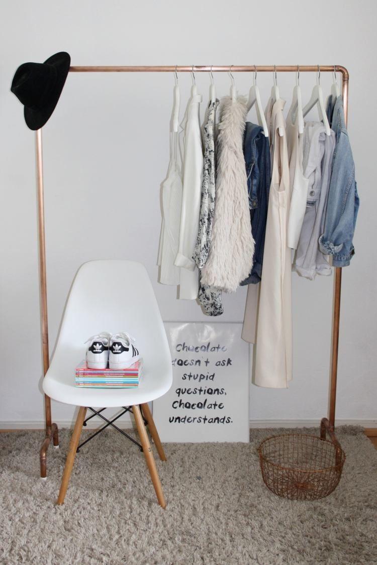 Diy Kleiderstange  eine eigene Kleiderstange aus Kupferrohren selber bauen