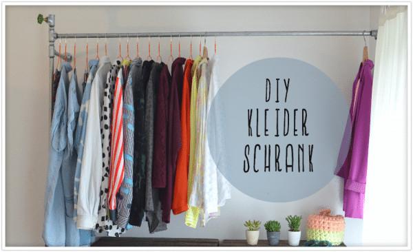 Diy Kleiderstange  DIY Kleiderstange aus Wasserrohren HANDMADE Kultur