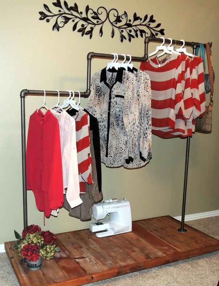 Diy Kleiderstange  Kleiderstange als DIY Idee für Ausbreitung des