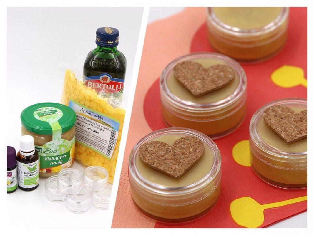 Diy Kosmetik  DIY Kosmetik Natürlichen Lippenbalsam selber machen mit