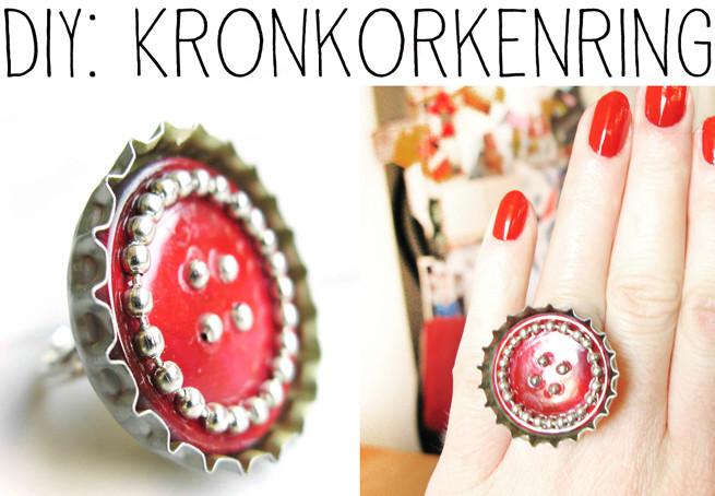 Diy Kronkorken  DIY Ring aus Kronkorken