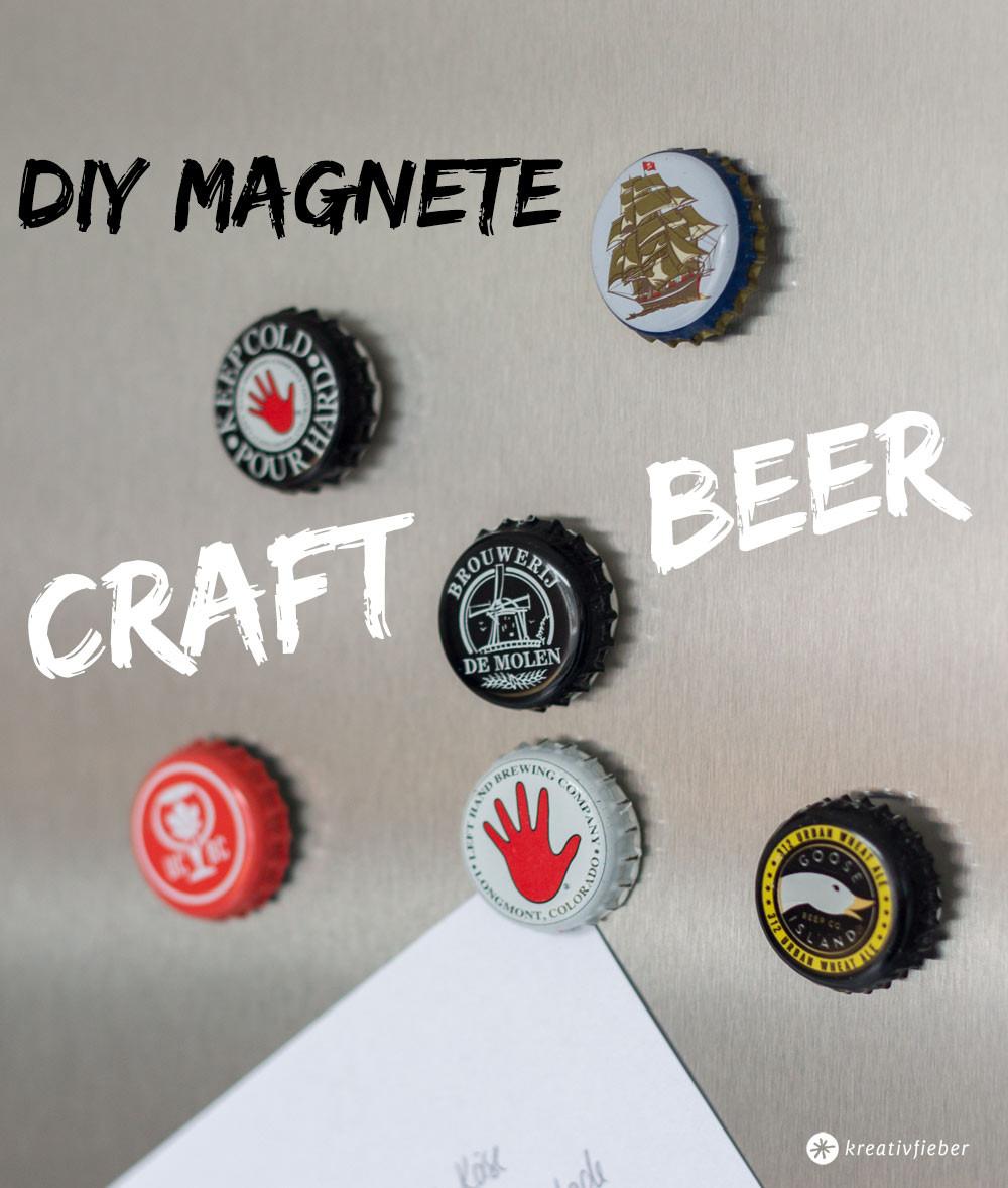 Diy Kronkorken  DIY Kronkorken Magnete Geschenkidee für Craft Beer Fans