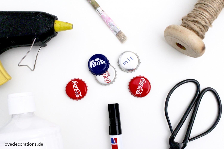 Diy Kronkorken  Türchen Nr 2 DIY Weihnachtsanhänger aus Kronkorken Der