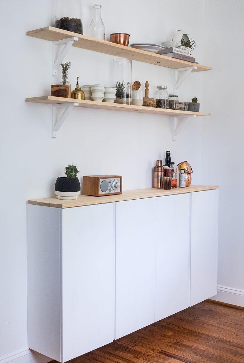 Diy Küchenschrank  Küchenschrank DIY aus Ikea Hängeschränken