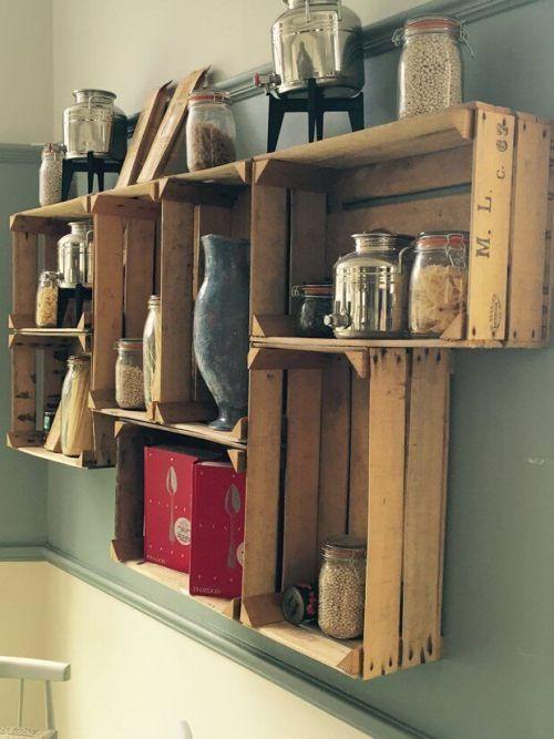Diy Küchenschrank  Praktische und stylische DIY Bastelideen mit Holzkisten